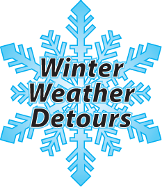 winter weather detours