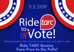 """TARC Offers Fare-Free """"Ride to Vote"""" Service on Election Day"""